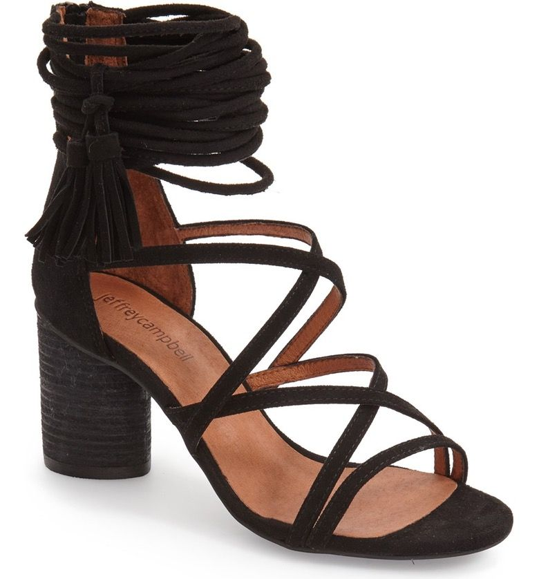 Strappy sandals heels