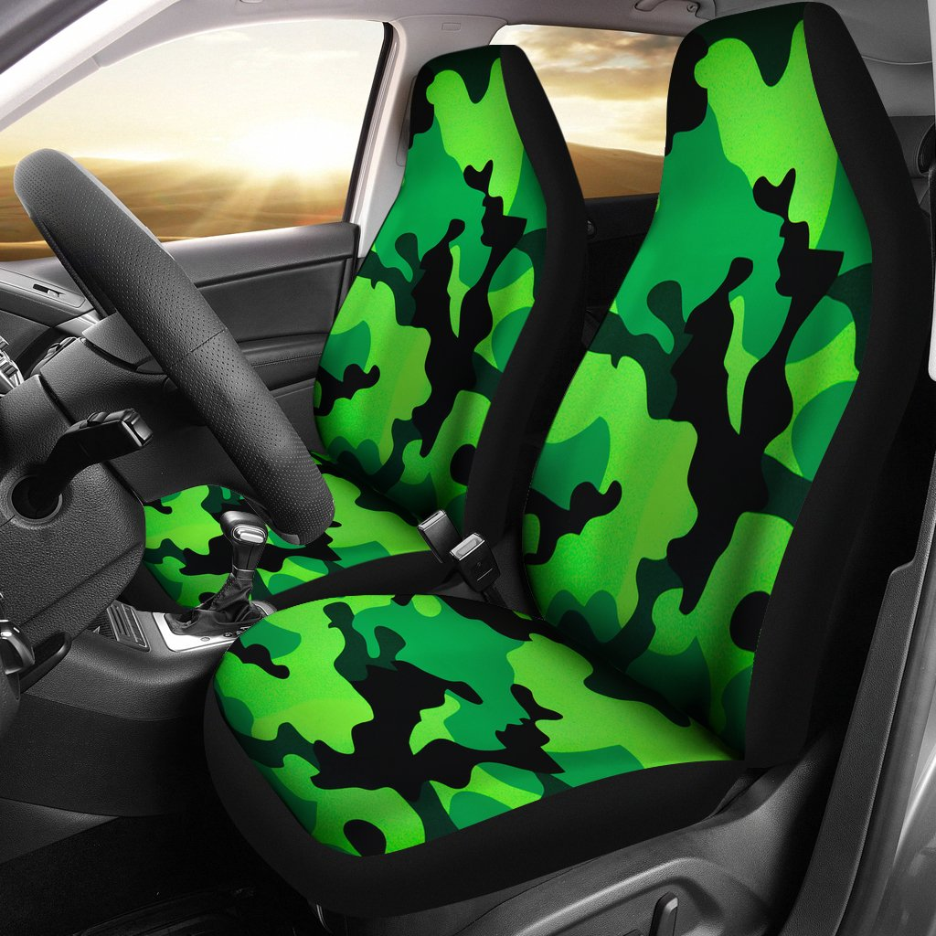 Sitzbezüge Auto Camouflage Neon Green Military Camo Inspired Car Seat Covers Set Of 2