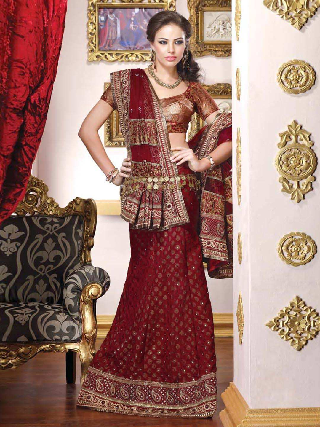 9f0e8d963c Parvati Women Red Lehenga Choli | Myntra | Dress Up Out There ...