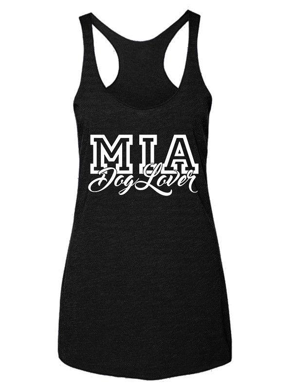 """MIA (Miami) Dog Lover"" Women's Racerback Tank Top"