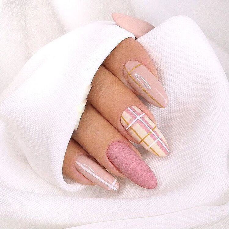 Pin By G K On Nails In 2020 Lines On Nails Cute Spring Nails Nail Designs Spring
