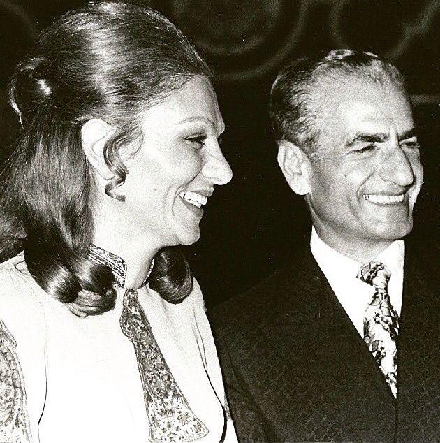 The late mohammad reza shah pahlavi and his wife farah for Shah bano farah pahlavi