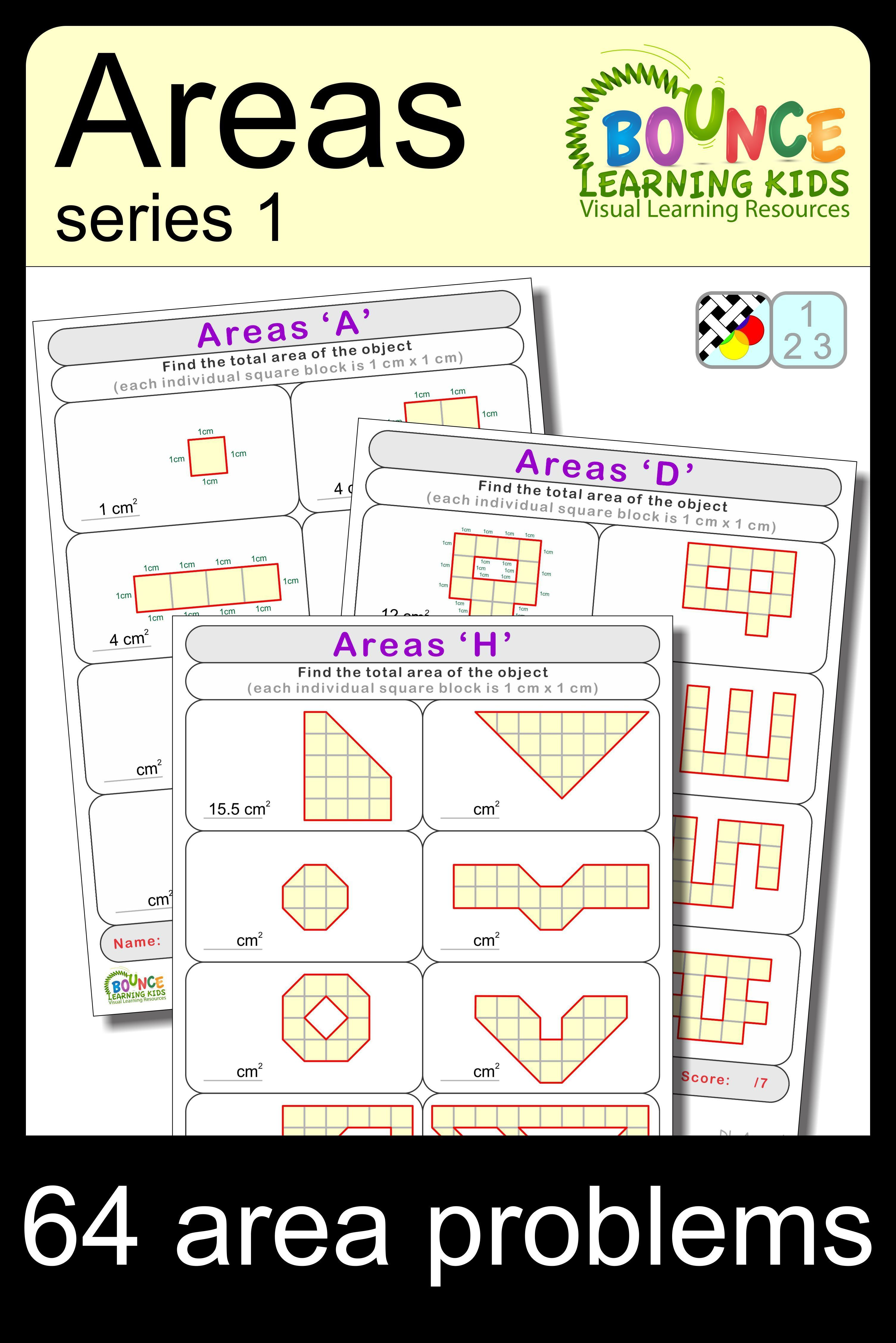 Areas 1 Distance Learning Areas Practice Worksheet Task Cards In 2020 Literacy And Numeracy Learning Worksheets Visual Learning