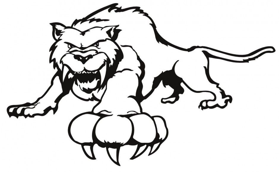 Saber Tooth Tiger Coloring Pages Sabertooth Dragon Coloring Page Animal Nursery