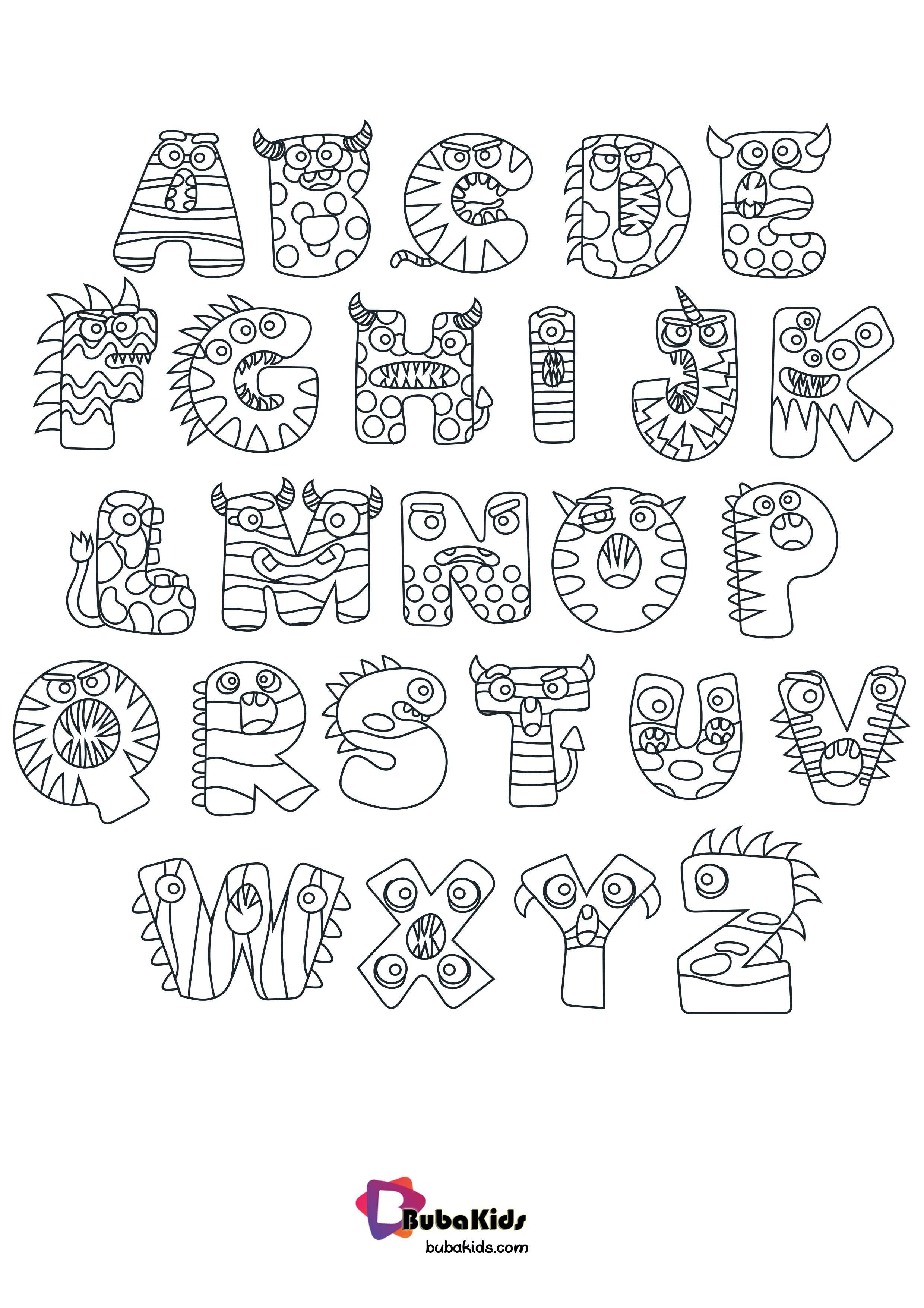 Halloween Preschool Alphabet Coloring Page Bubakids Com Preschoolalphabet Preschoolco Alphabet Coloring Free Halloween Coloring Pages Alphabet Coloring Pages