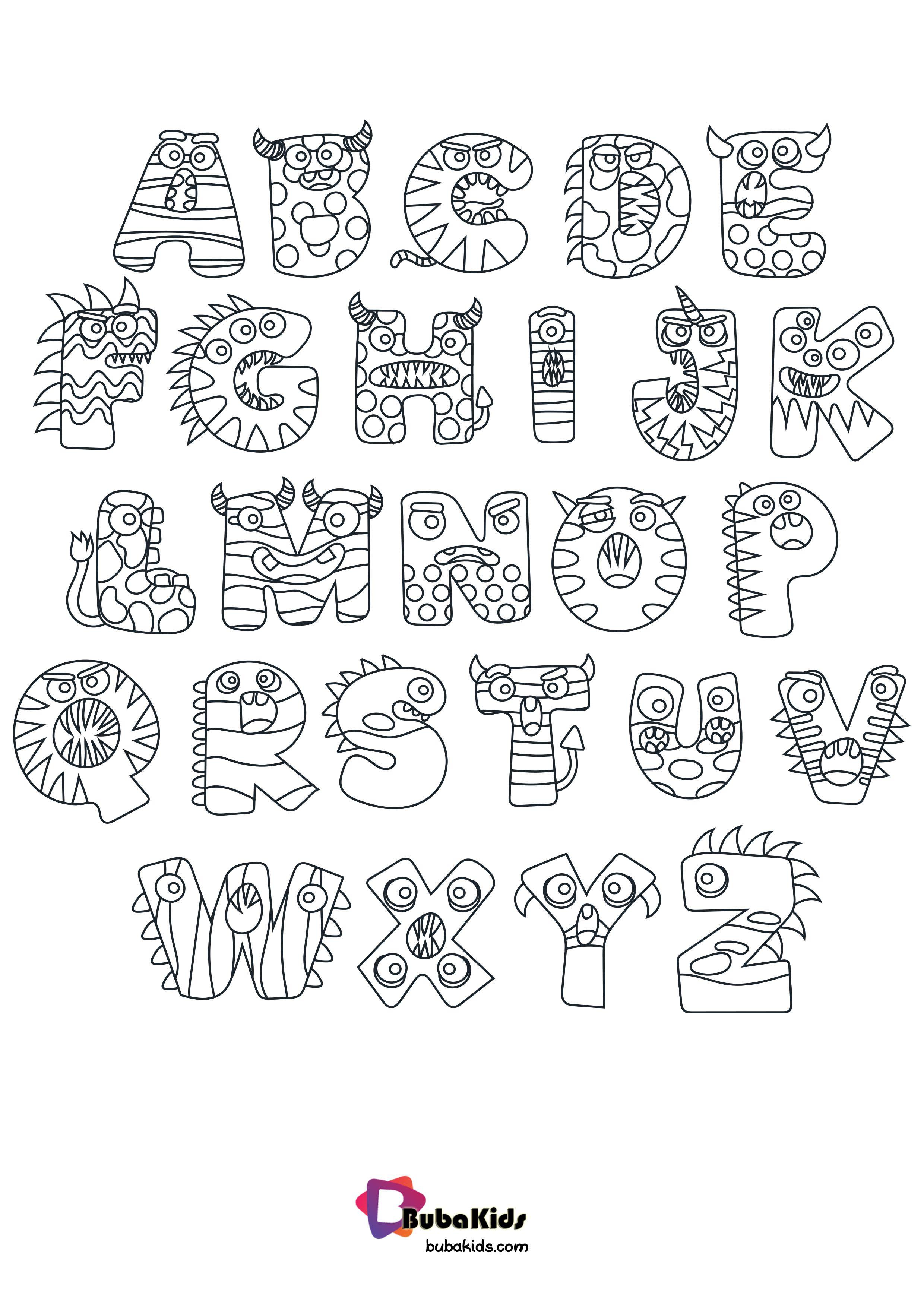 Halloween Preschool Alphabet Coloring Page Bubakids