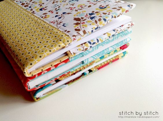 Stitch by Stitch Fabric Book Cover Tutorial Sew Easy - kleine regale für küche