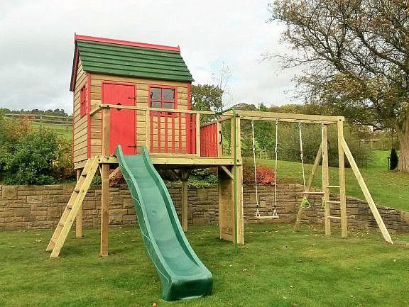 Forest Playhouse Climbing Frame | Building An Outdoor Playhouse ...