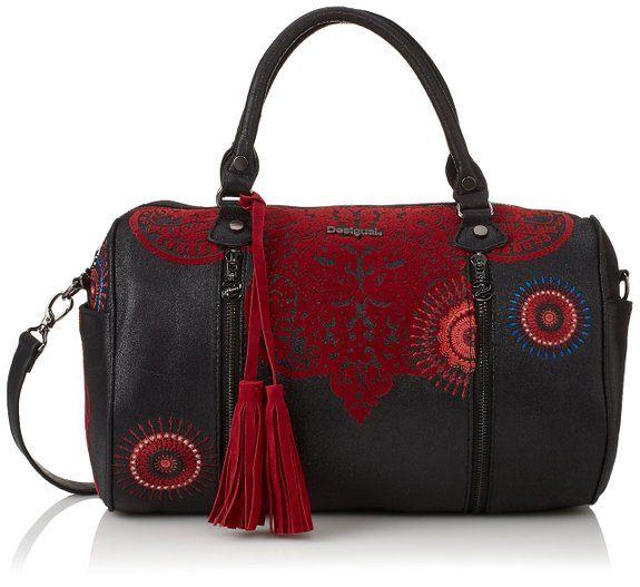 40a47e220d Desigual BOLS_SIDNEY KERALA, sacs bandoulière femmes - Rouge - Rot (Carmin  3000), 34x31x16 cm (B x H x T) EU