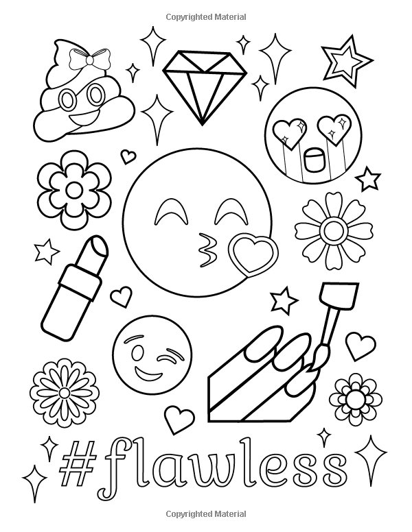 Amazon Com Emoji Coloring Book Of Funny Stuff Cute Faces And Inspirational Quotes 30 Aweso Emoji Coloring Pages Valentine Coloring Pages Love Coloring Pages