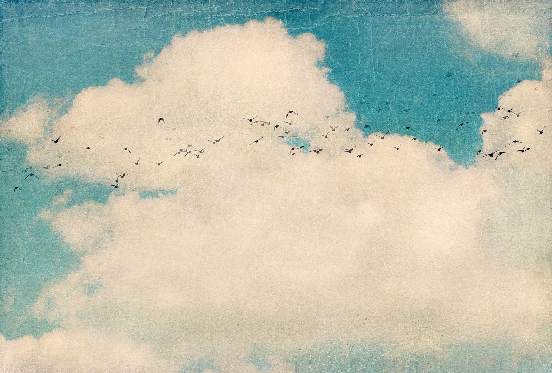 Vintage Clouds Cloud Illustration Art Abstract Artwork