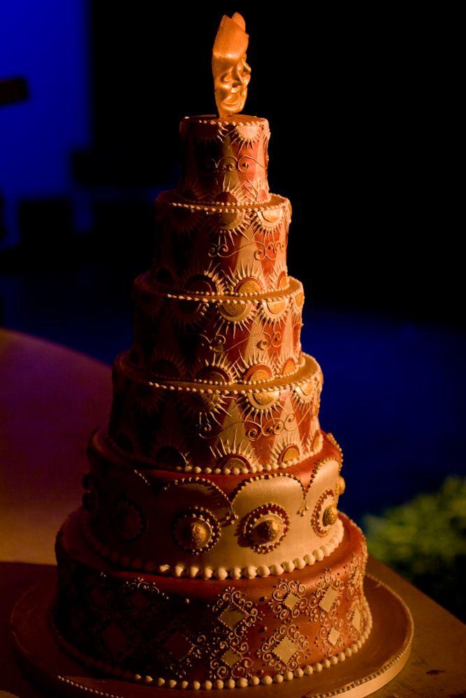 Drama mask wedding cake by Jason Ellis - photo by Casey Fatchett - www.fatchett.com