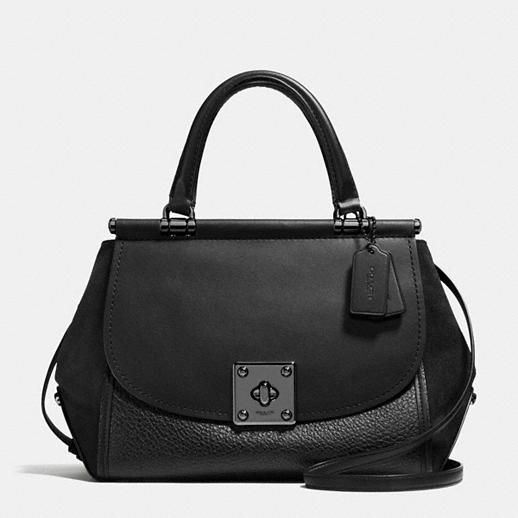 Black on Black LOVE | Drifter Carryall in Mixed Leather