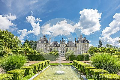 In the park of Cheverny castle. Loire valley, France