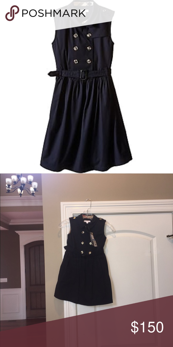 eb383527f NWT Burberry Kids Iliana Sleeveless Trench Dress NWT Navy Size 7 girls Burberry  Dresses Casual