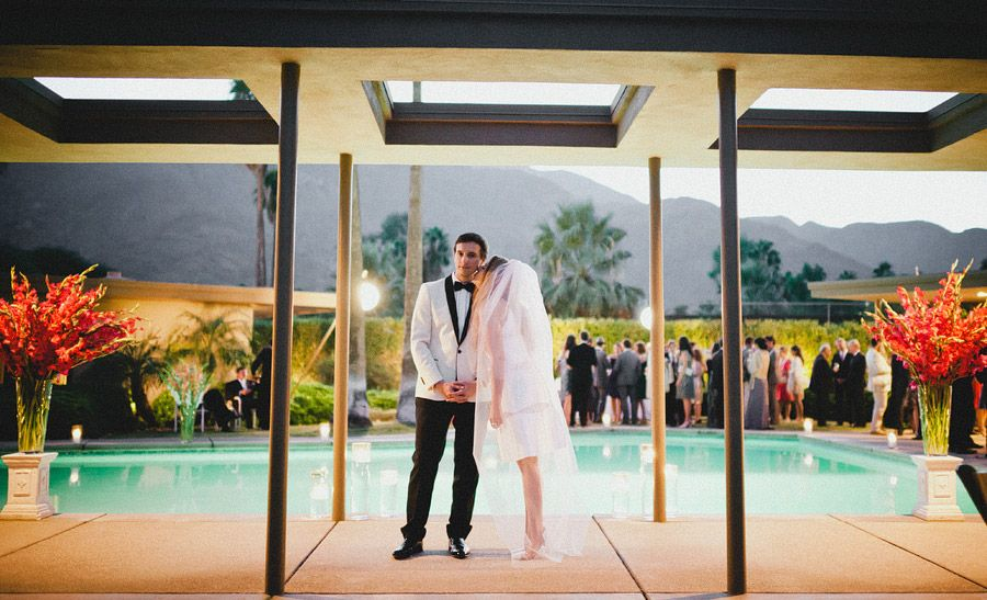 Twin Palms Frank Sinatra Estate Wedding Photos Pete And Sheila