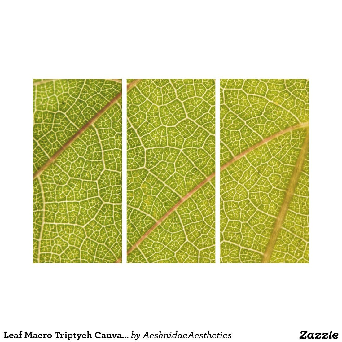 Leaf Macro Triptych Canvas Wall Art | Canvas wall art, Wall art and ...
