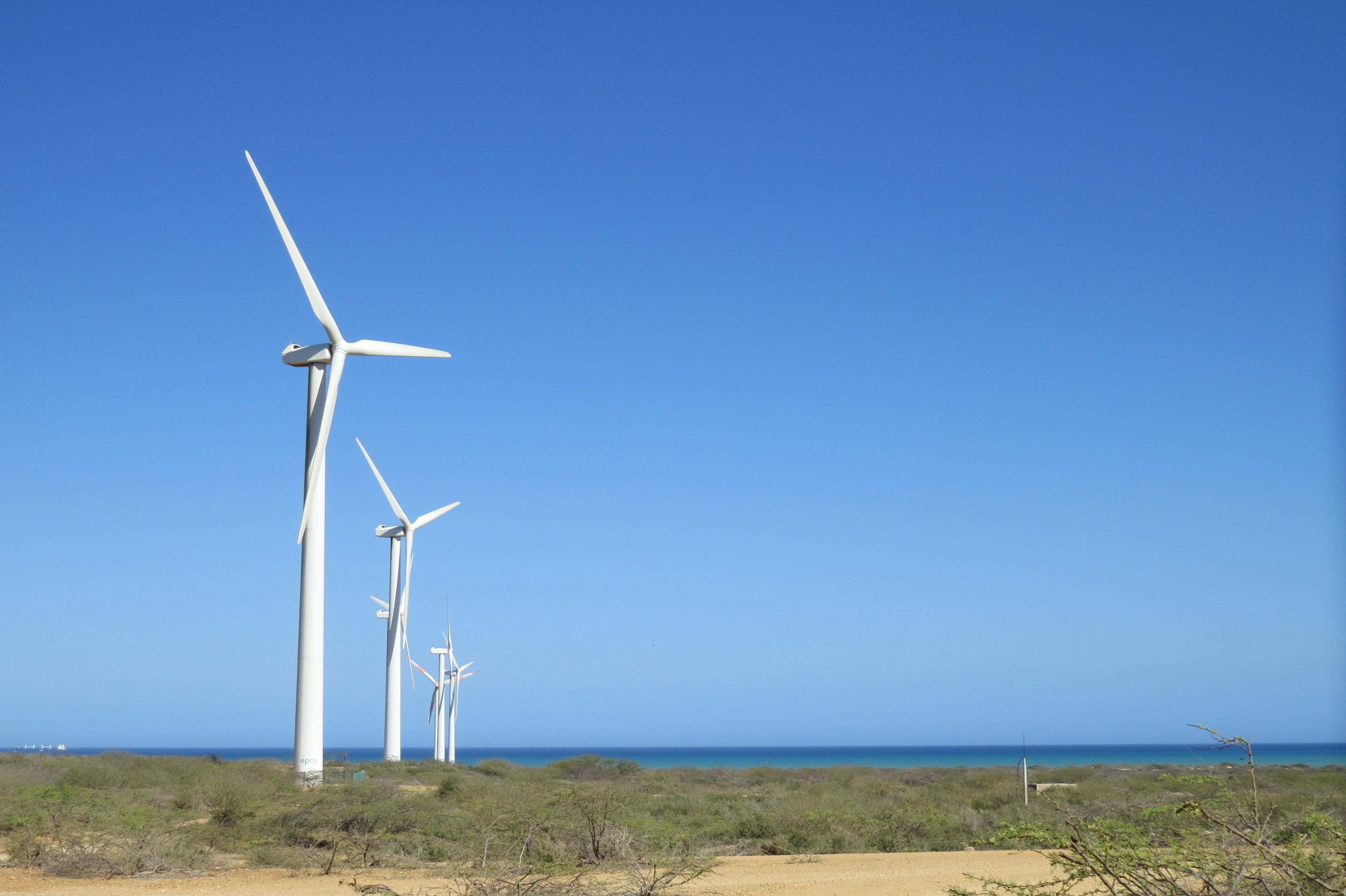 molinos de viento guajira parque eólico alta guajira pinterest