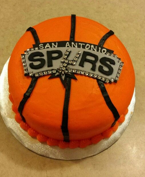 Pleasing San Antonio Spurs Cake Spurs Cake Cake Edible Cake Toppers Funny Birthday Cards Online Overcheapnameinfo