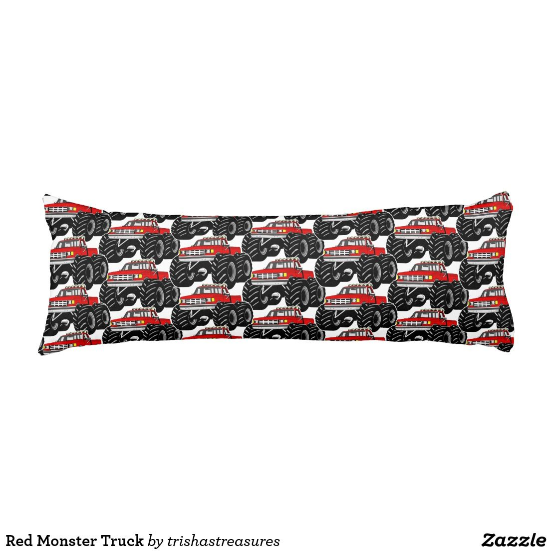 red monster truck body pillow zazzle