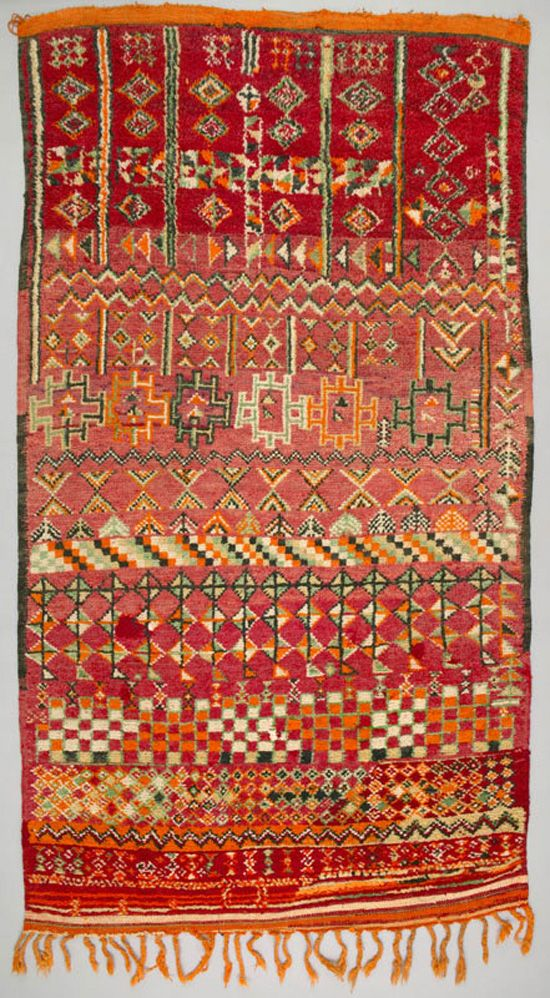 Africa Floor Rug From The Berber Zemmour Tribe Living
