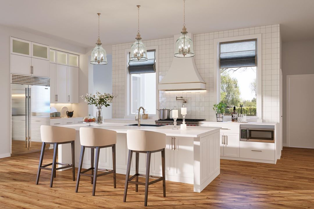 """Hunter Dehn Realty on Instagram: """"How gorgeous is this kitchen rendering at 6022 Lupton? This new construction home is simply spectacular. #hunterdehnrealty…"""""""