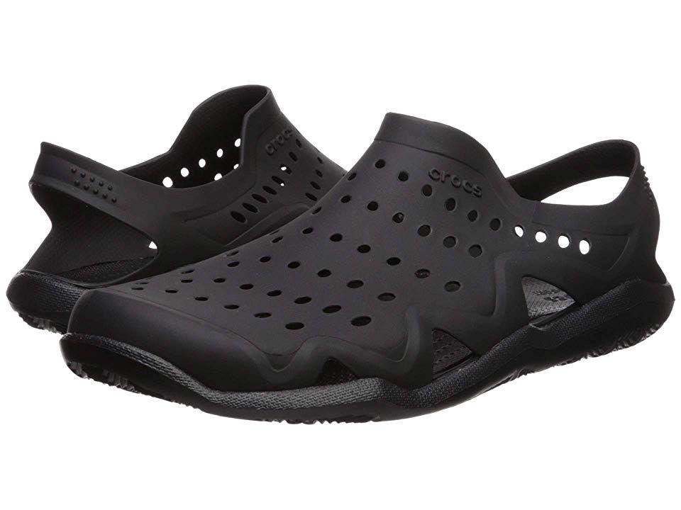 5dfbe4fa1b Crocs Swiftwater Wave Men s Sandals Black Black in 2019