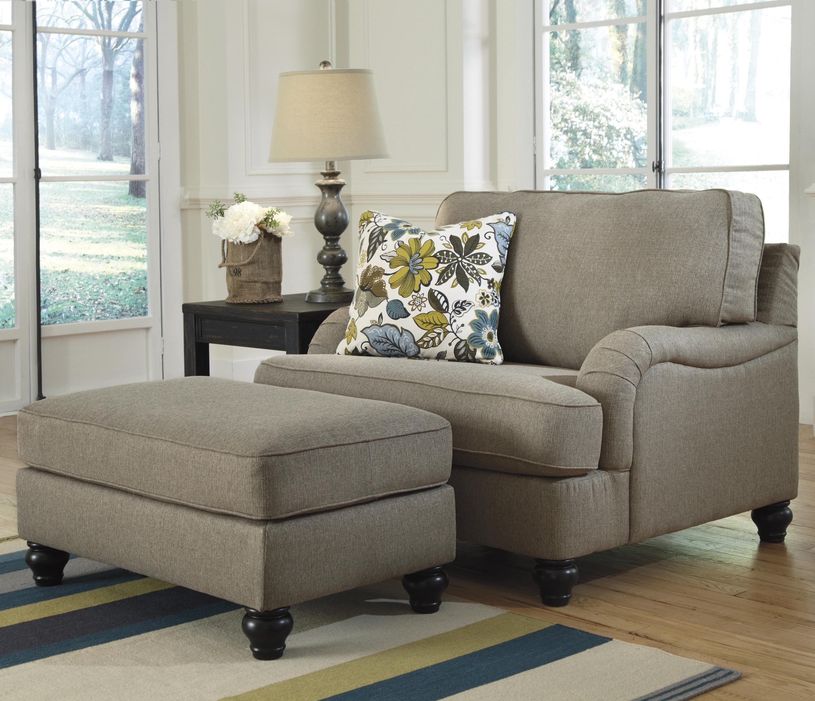 Chair And A Half And Ottoman Ashley Furniture Hariston Shitake