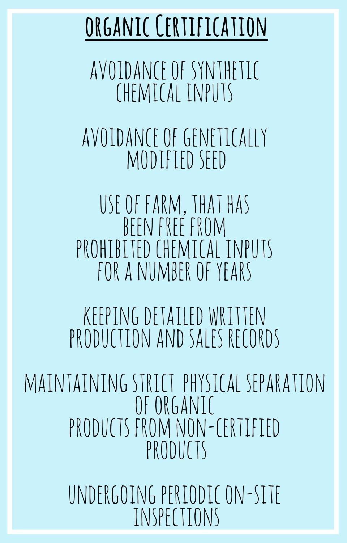 General Organic Certification Standard Organiccertification