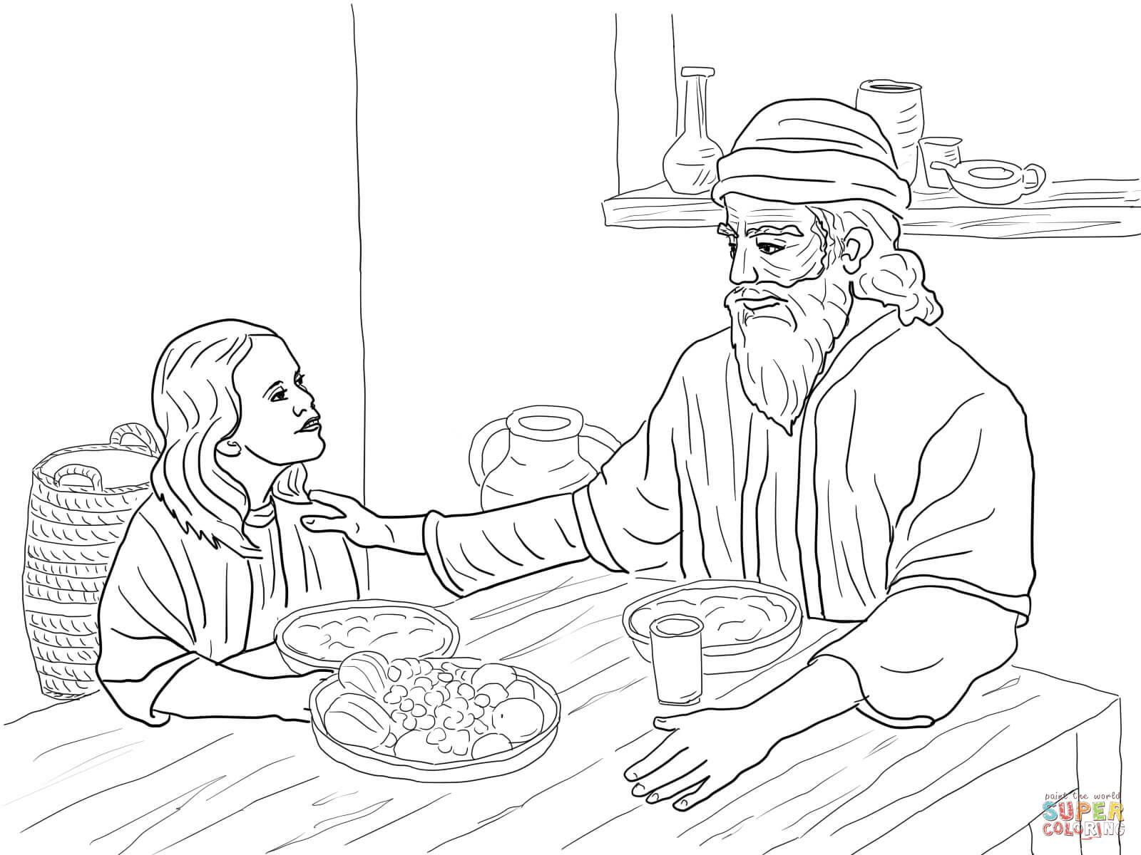 Esther And Mordecai Super Coloring Bible Coloring Pages Coloring Pages Queen Esther Bible