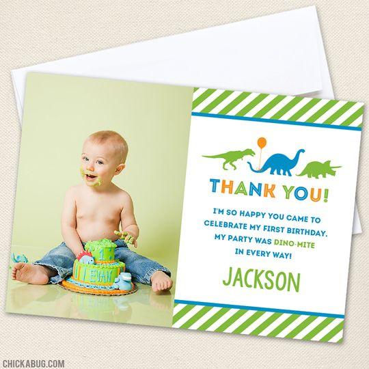 Blog Crush Mini Eco Chickabug Dinosaur Party Invitations Birthday Thank You Cards Dinosaur Party