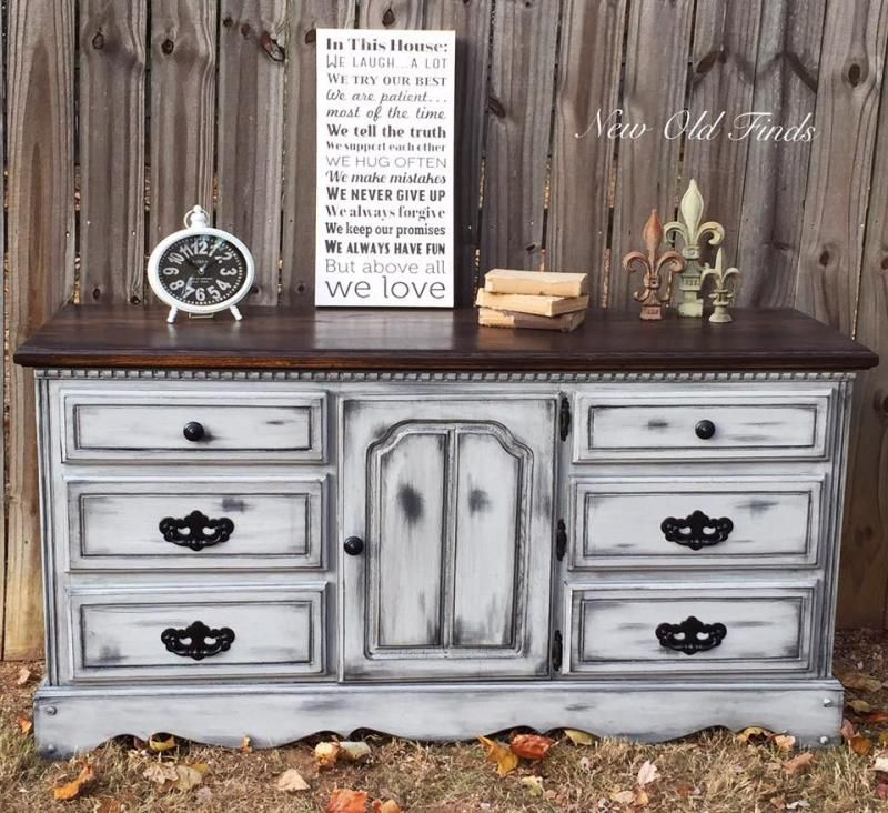 farmhouse style dresser furniture black grey pinterest restaurierung holz ideen und. Black Bedroom Furniture Sets. Home Design Ideas
