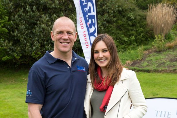 Mike Tindall with Daily Mirror reporter Victoria Murphy.