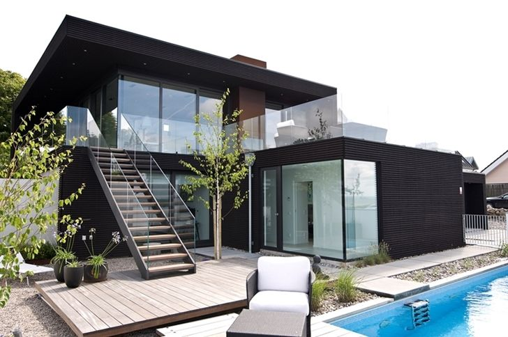 Nilsson Villa Modern Beach House With Black And White