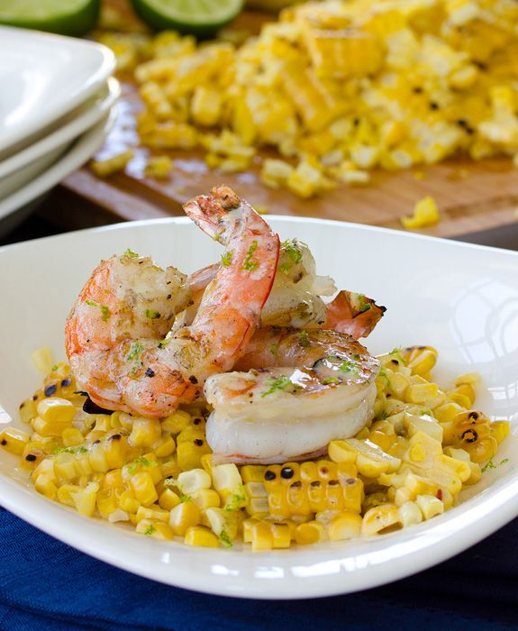 Fresh sweet corn and shrimp are a classic combination and this dish shows how the two ingredients bring out the sweetness in one another. Topped with creamy lime vinaigrette, this makes for a healthy and delicious main course. #Sweetlife