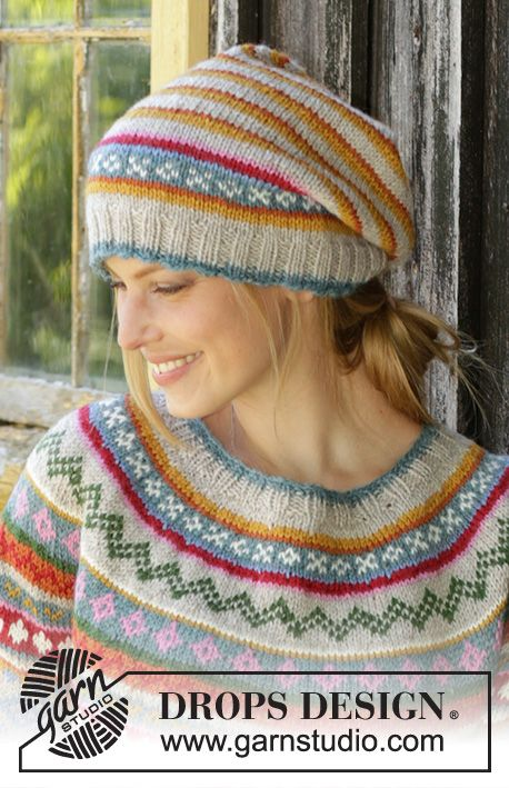 Photo of Winter carnival hat / DROPS 196-7 – free knitting patterns by DROPS design