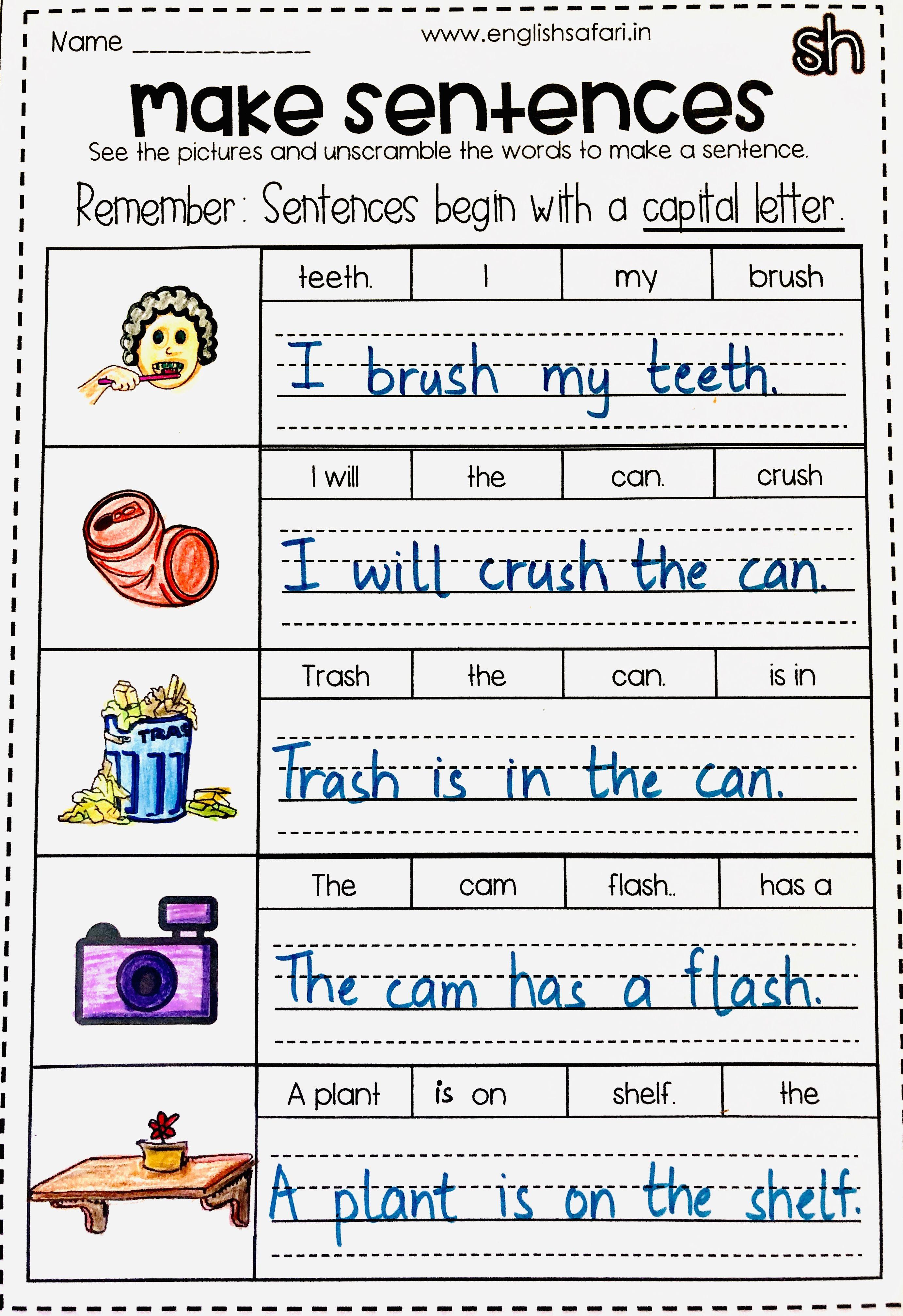 Make Sentences Using These Words Englishsafari In