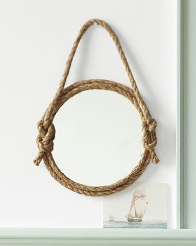 Frame out a mirror with rope mirror diy rope frame diy ideas diy frame out a mirror with rope mirror diy rope frame diy ideas diy crafts do it nautical solutioingenieria Image collections