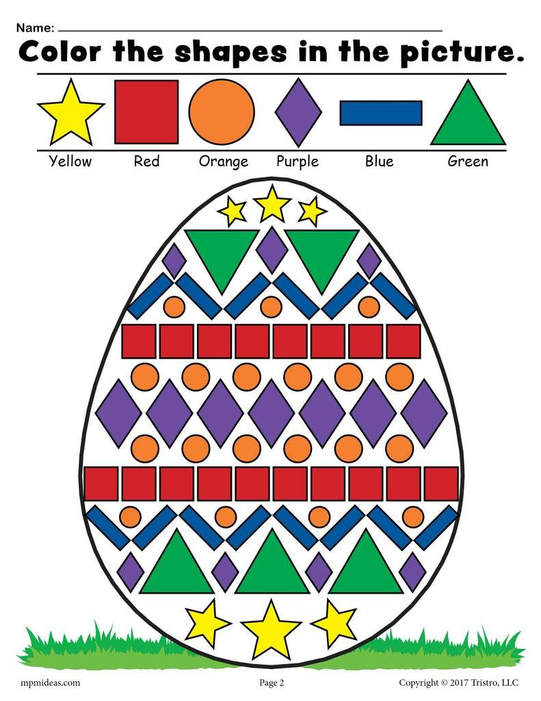 Free Easter Egg Shapes Worksheet Coloring Page Shape Coloring Pages Shapes Worksheet Preschool Art Activities Easter egg math worksheets