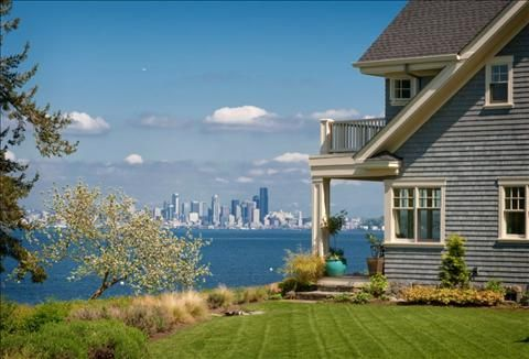 Seattle across Puget Sound   Bainbridge Island Beach House