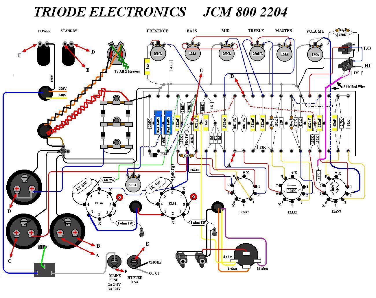 hight resolution of marshall jcm800 2204a 50w tube diy amp kit version 1 diy guitar amp diy guitar