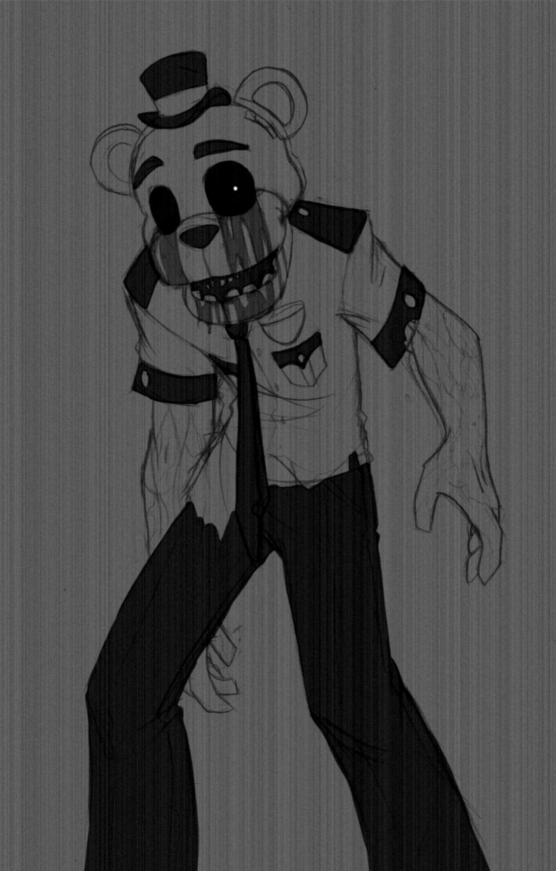 Grey Freddy everyone, nothing special, i just felt like drawing him.