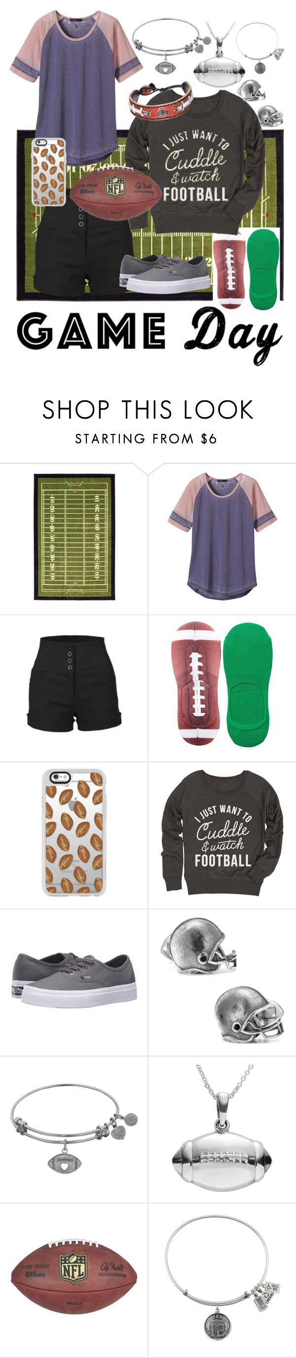 """""""Game Day"""" by weareforeveralone ❤ liked on Polyvore featuring prAna, LE3NO, Free Press, Casetify, Vans, Cufflinks, Inc., Journee Collection and GameWear"""