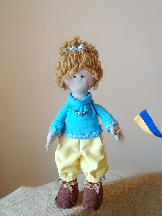 Tilda Slava Ooak rag doll Interior Textile Doll by MaryankaDolls