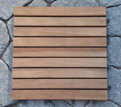 Teak Tile Slat Style 12