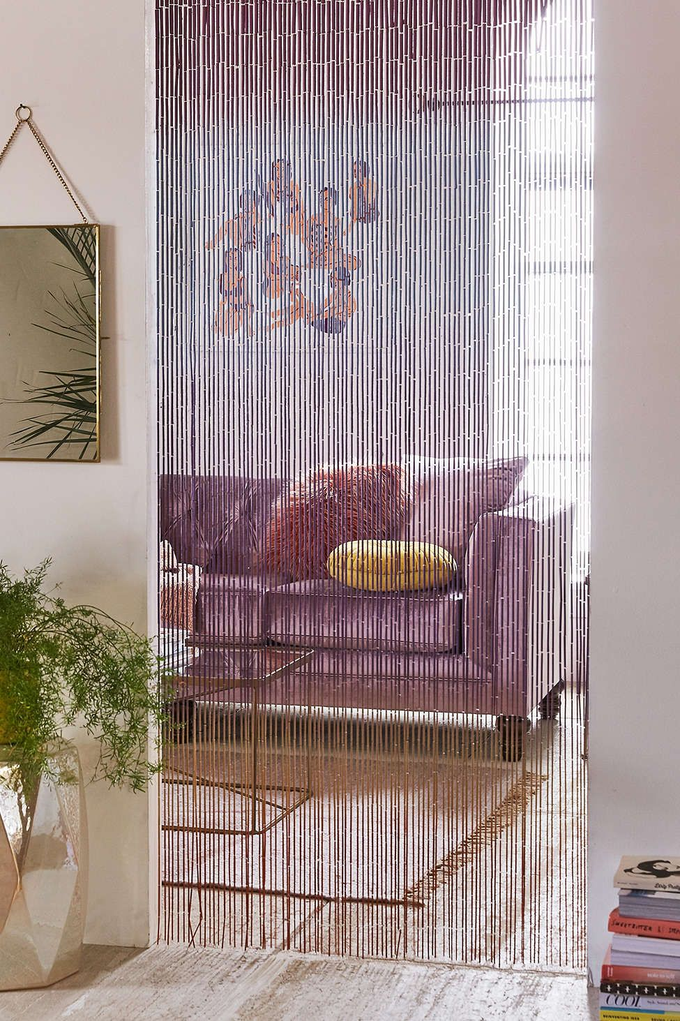 Bamboo house window design  ombre bamboo beaded curtain  house  living room  pinterest
