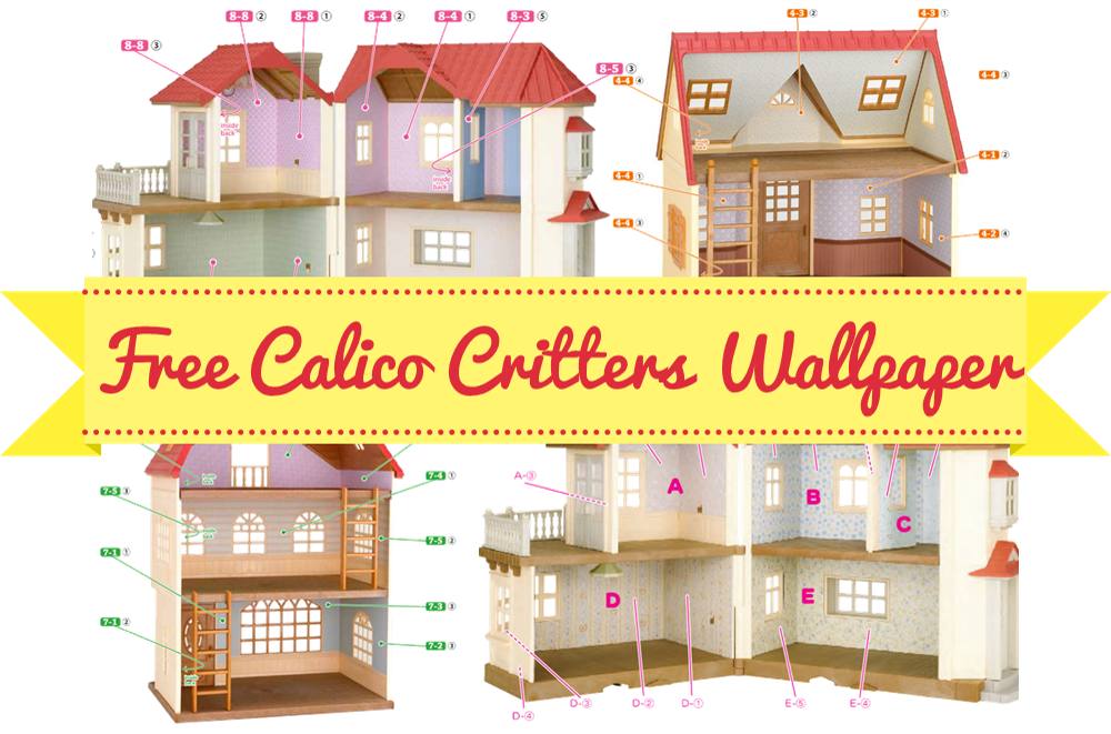 Want To Wallpaper Your Calico Critters Home Hey Me Too