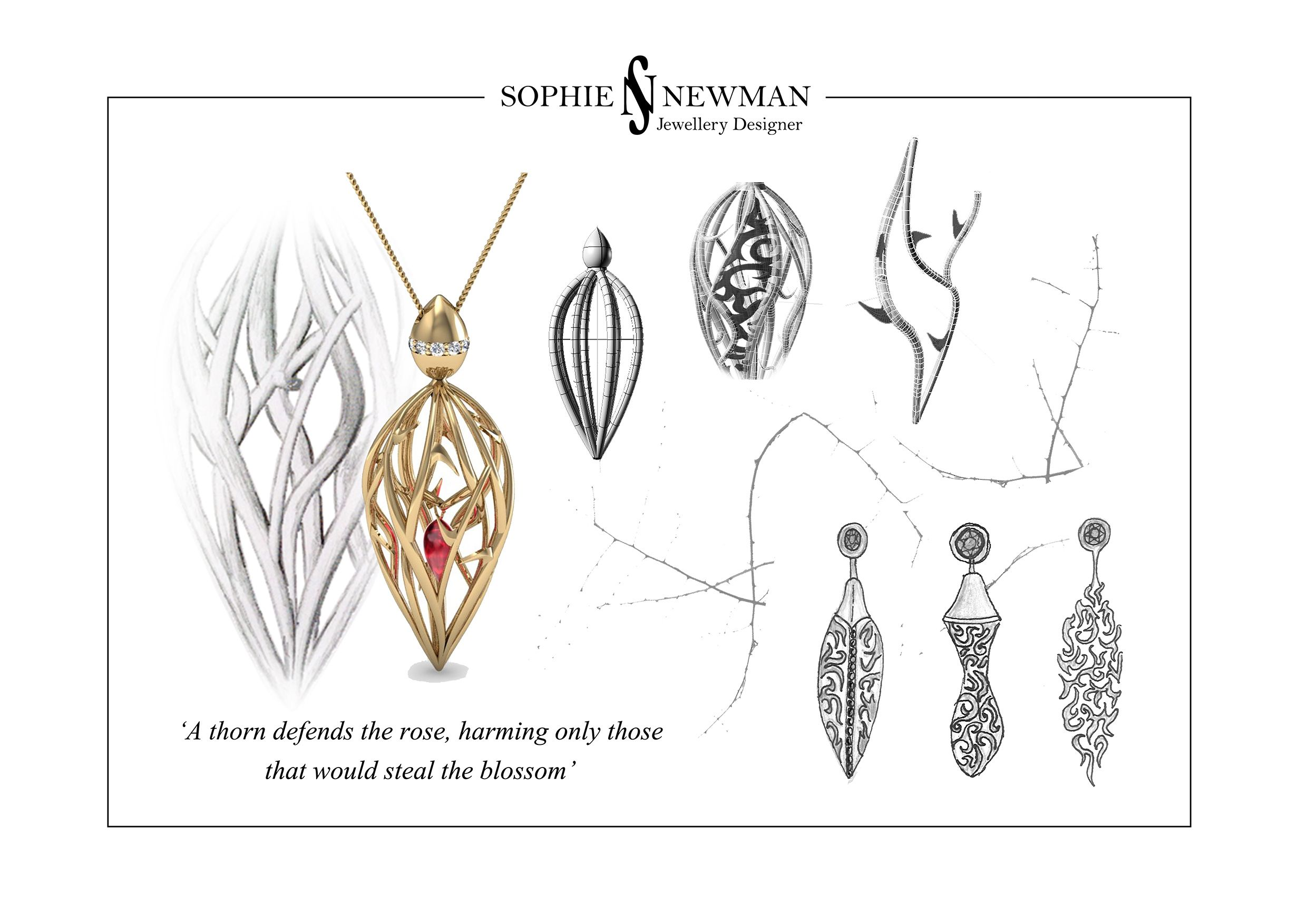 Espina Collection - Sophie Newman Jewellery - www.sophienewmanjewellery.com