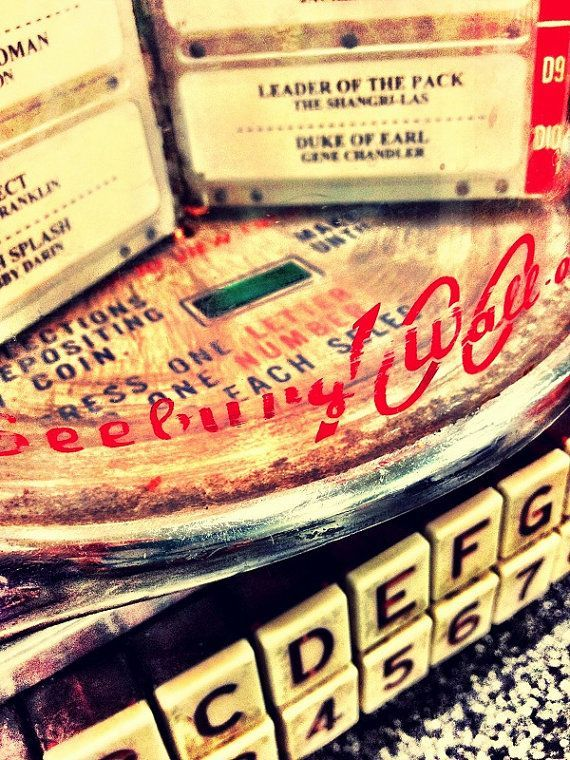 50s Diner Jukebox Vintage Photograph Retro Nostalgic Home Decor