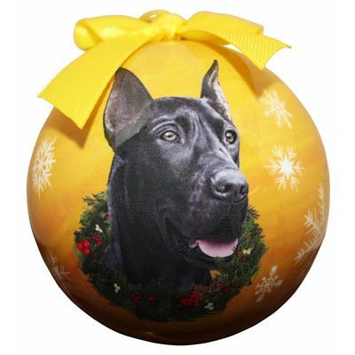 ESPets Great Dane Christmas Ornament Shatter Proof Ball (Set of 2)
